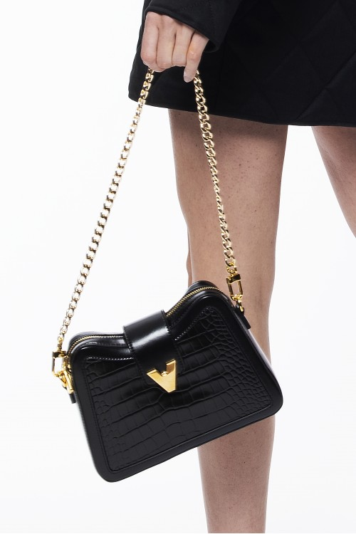 Mini two-point black shoulder bag