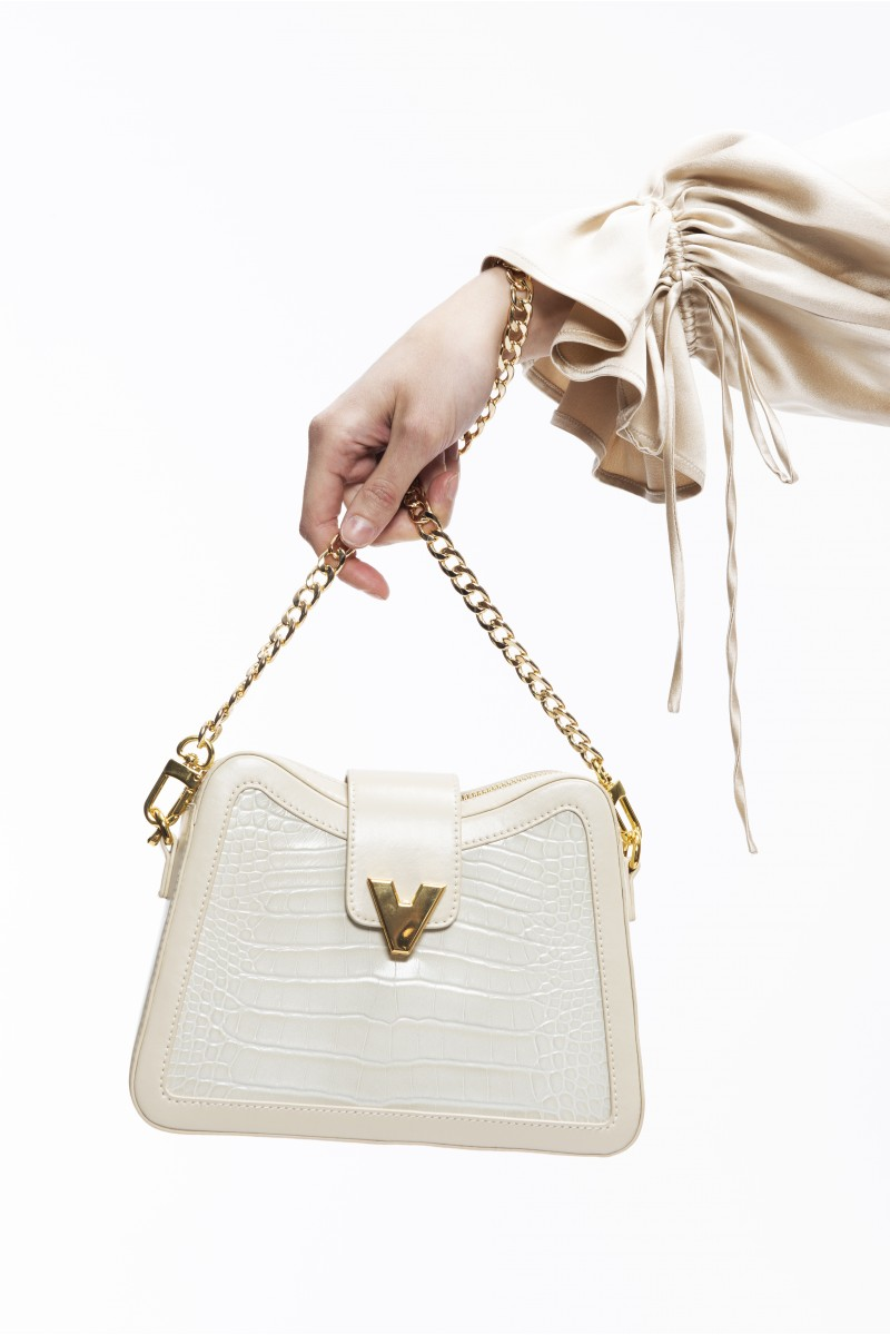 mini two-point ivory shoulder bag