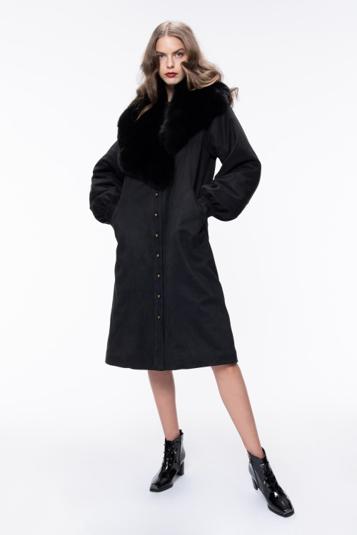 OVERSIZED SUEDE COAT