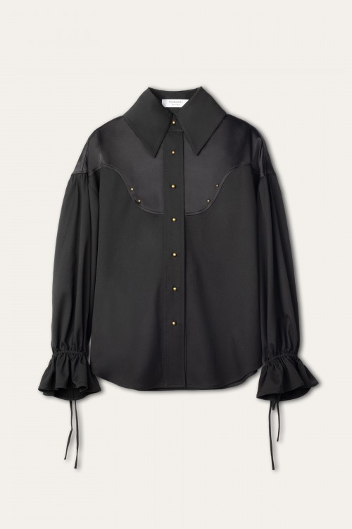 TWO-PANELED BLACK SHIRT