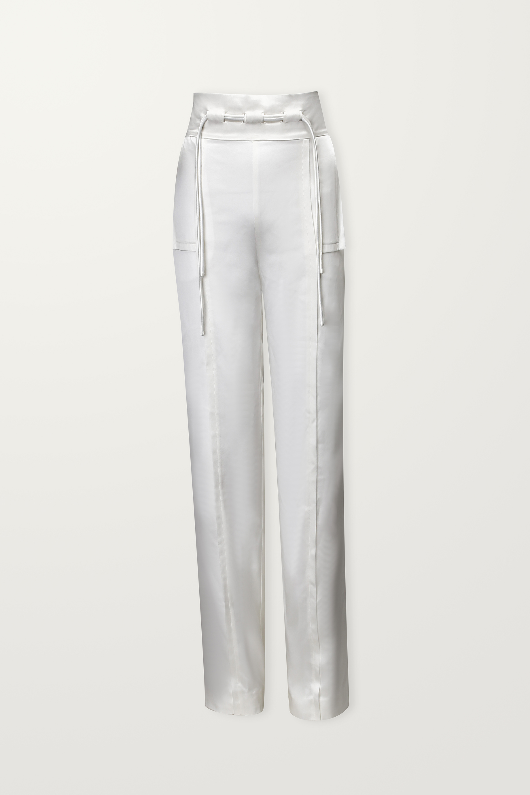 Ivory trouser with drawstrings
