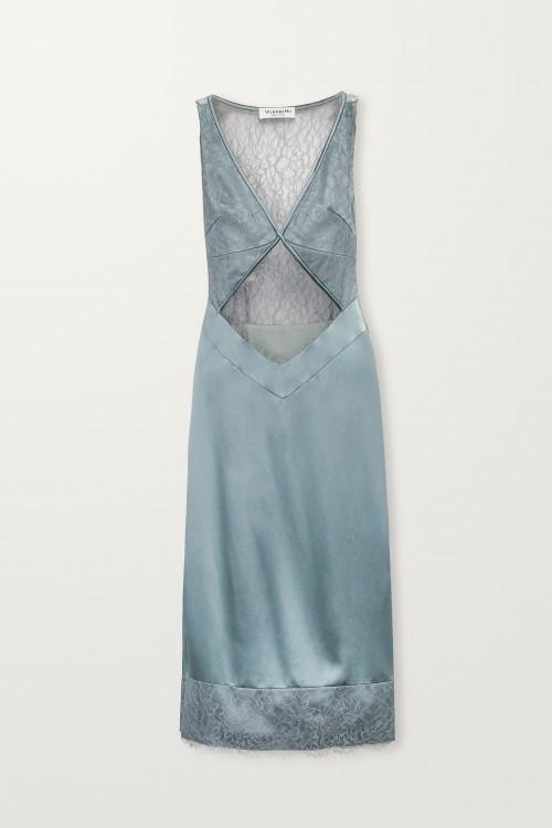Crossed front turkish slip dress