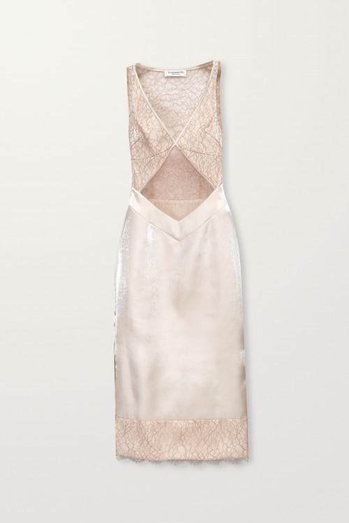 Crossed front blush slip dress