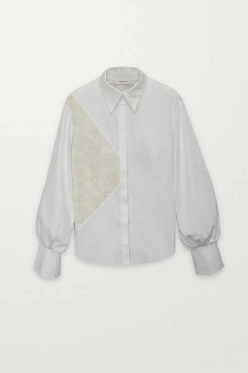 Triangle lace shirt
