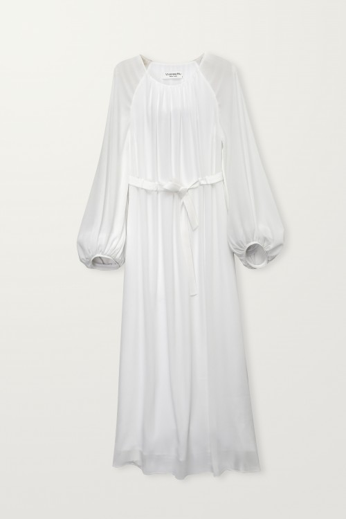 Bishop Sleeve Long Dress