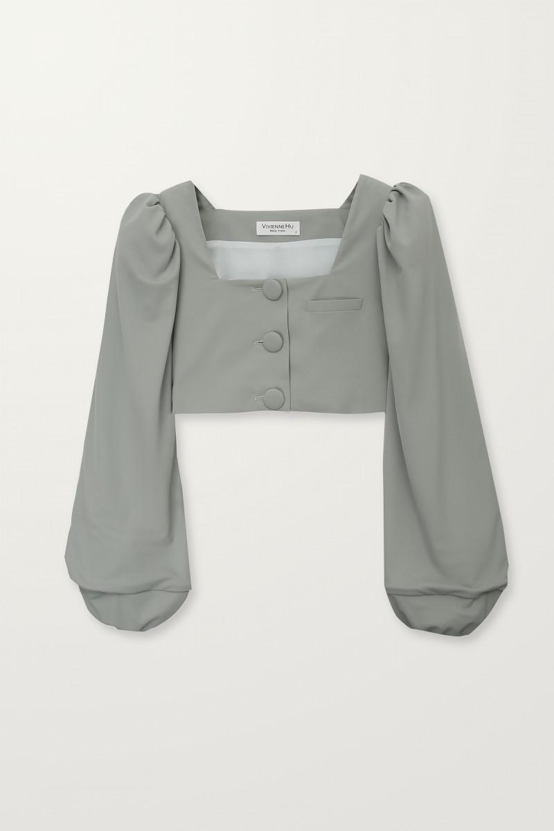 short sage jacket