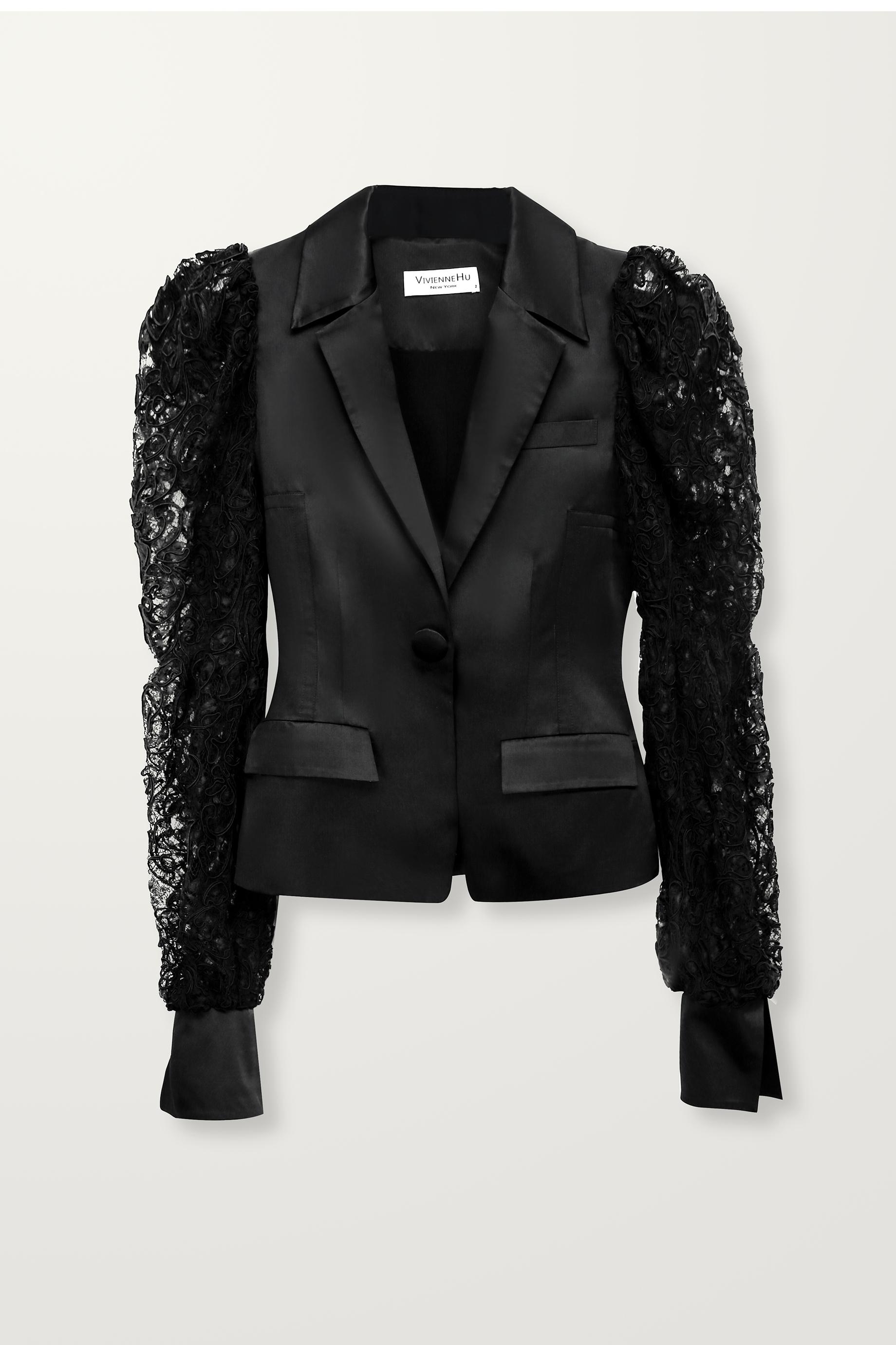 Lace sleeve jacket