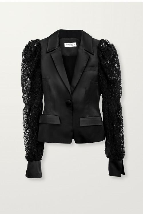 Black Lace Sleeve Jacket