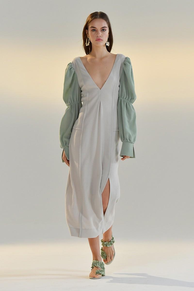 long sleeve wool dress