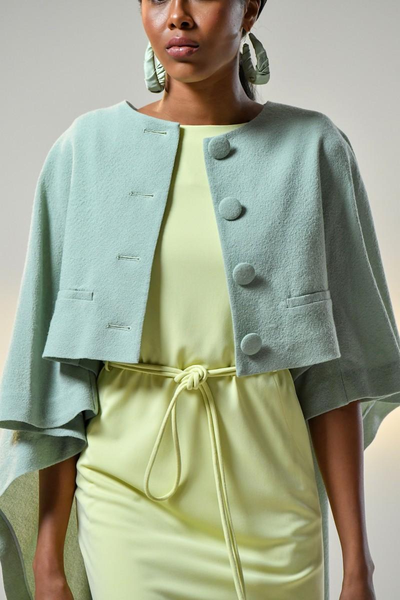 Shoulder padded Sleeveless Dress