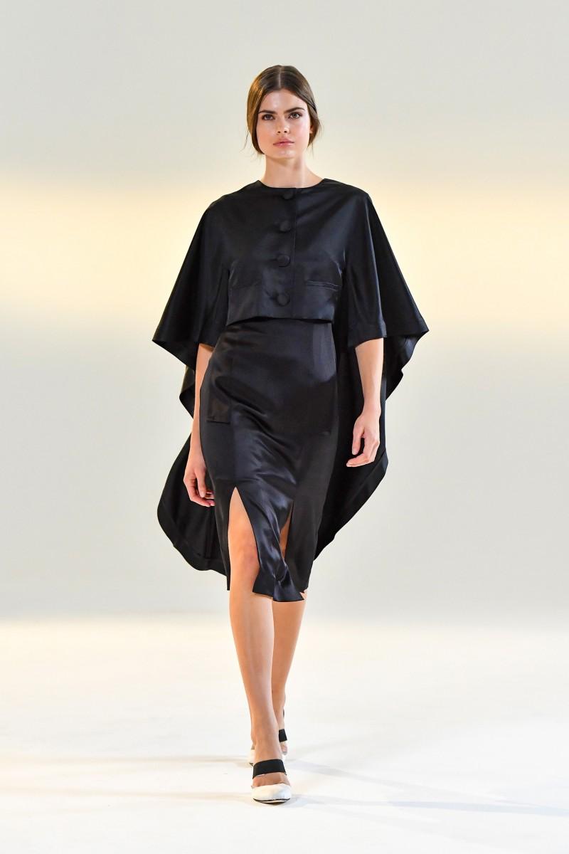 black silk cape