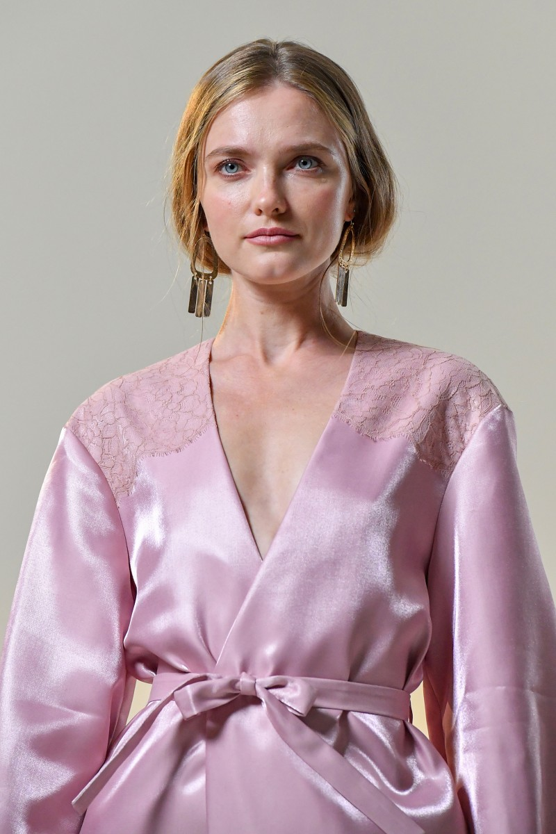 silk and lace robe
