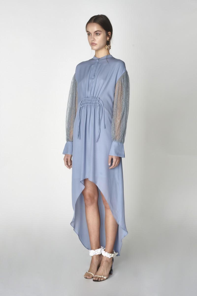 high low blue dress