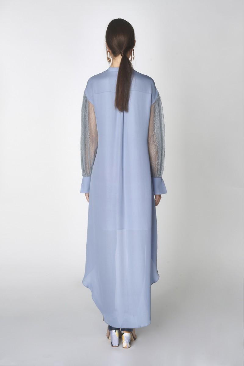 blue high low dresses