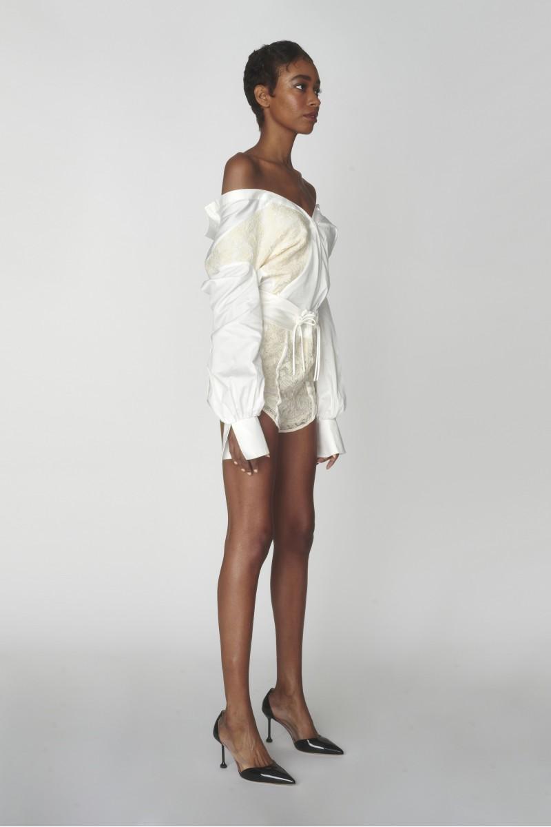 white lace shirt women