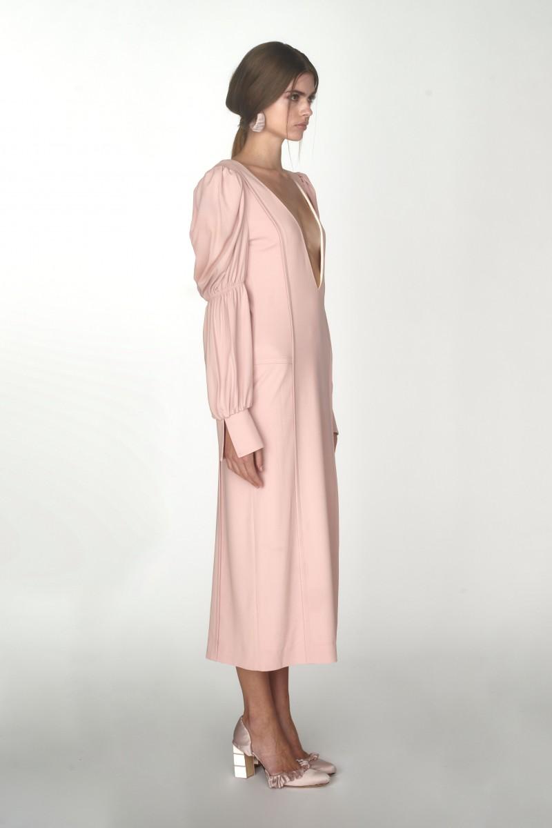 long sleeve plunge dresses