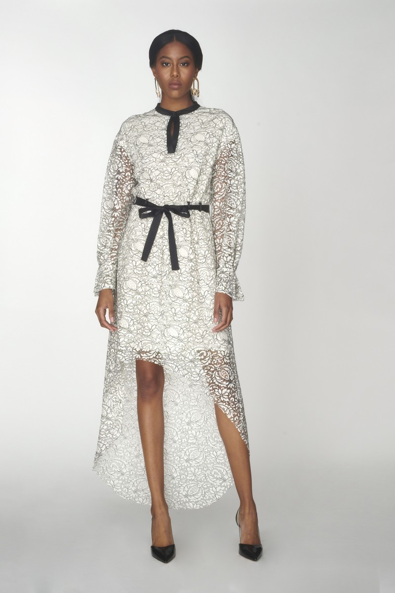 high low lace prom dress