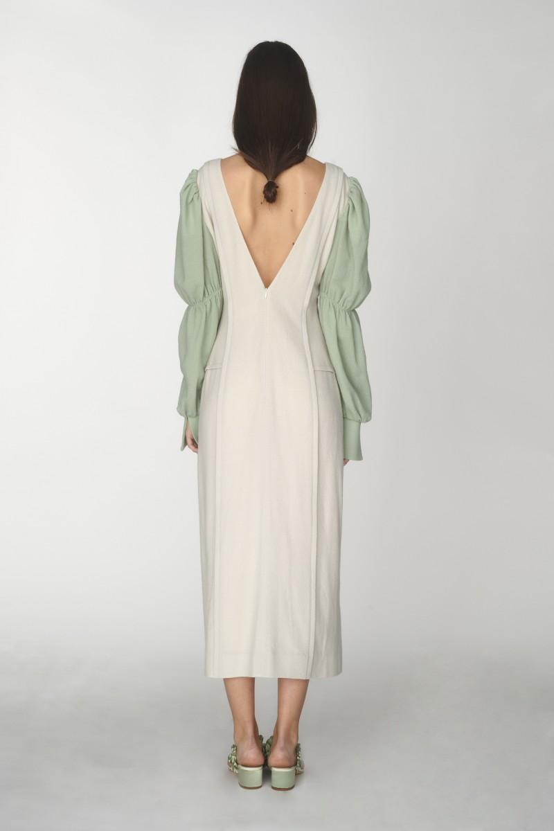 deep v neck dress