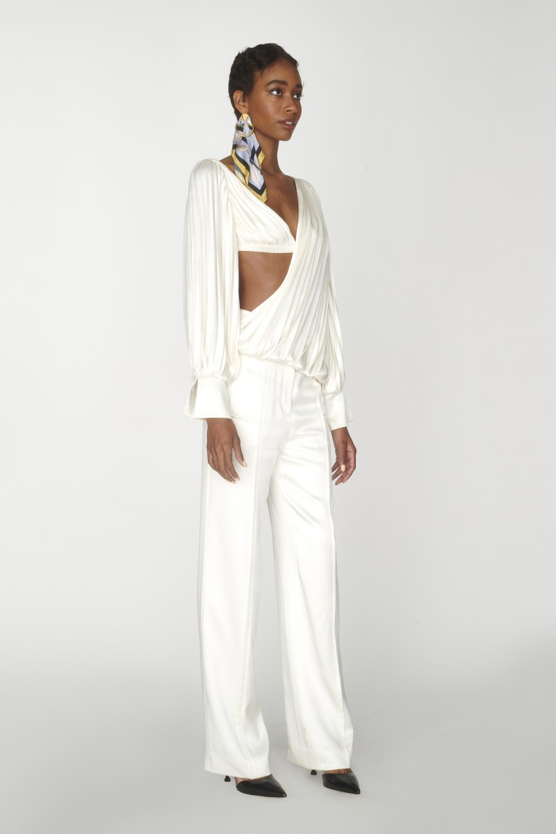 silk high waisted pants