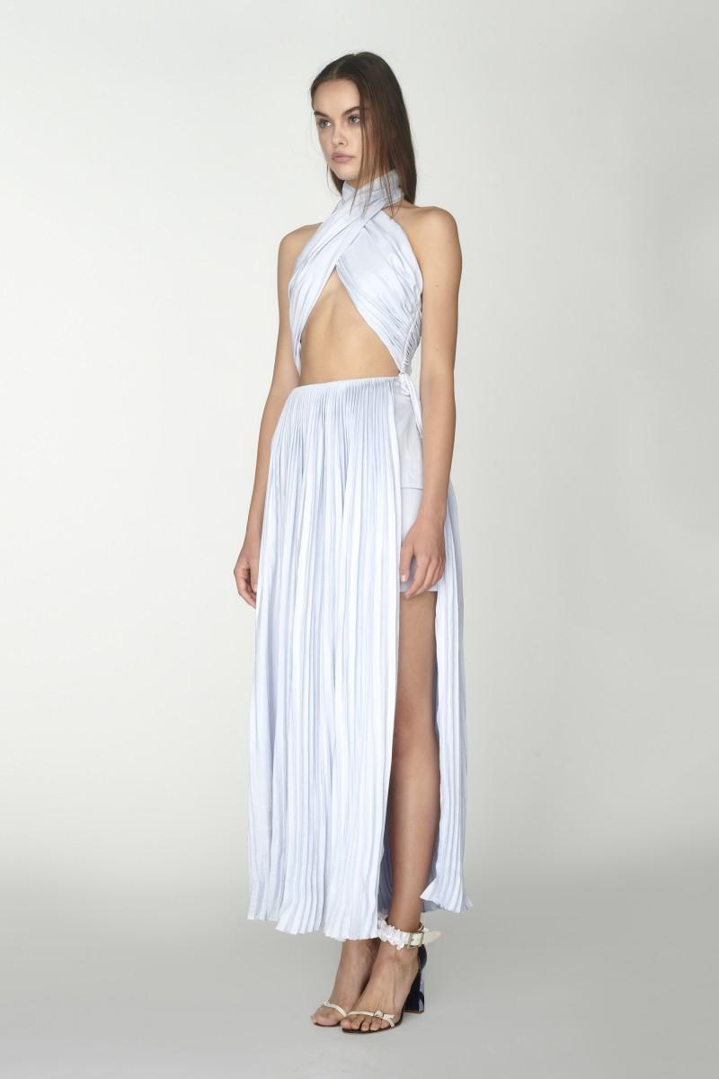 Crossed neck dress