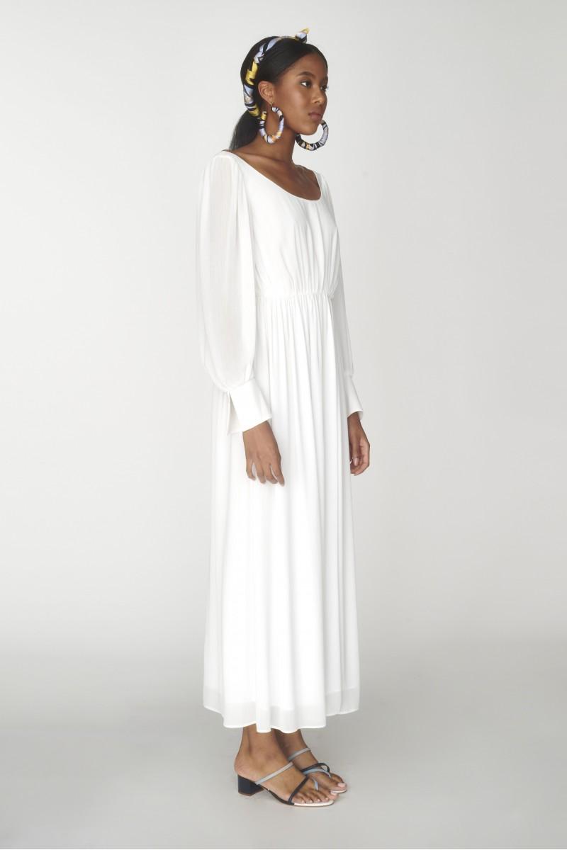 crossed back dress
