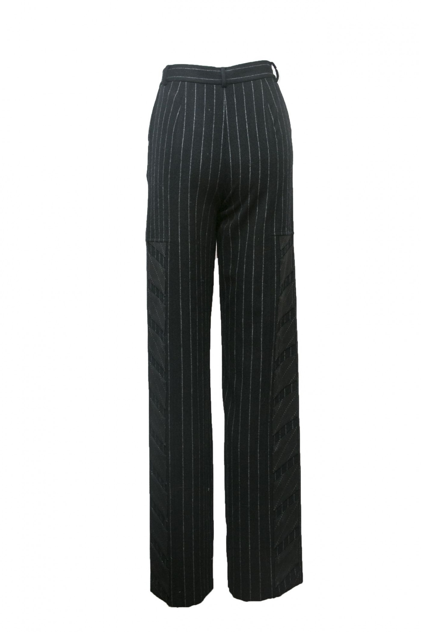 Pinstripe Pant with Side Detail