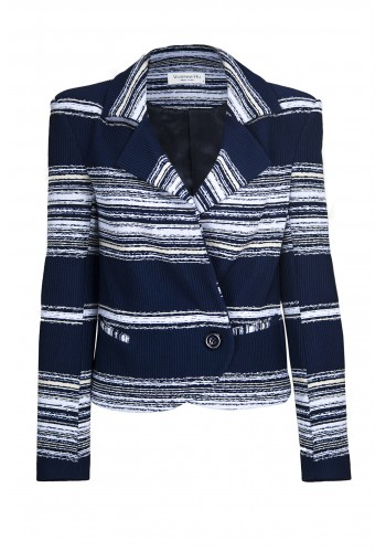 STRIPE SINGLE BREASTED JACKET