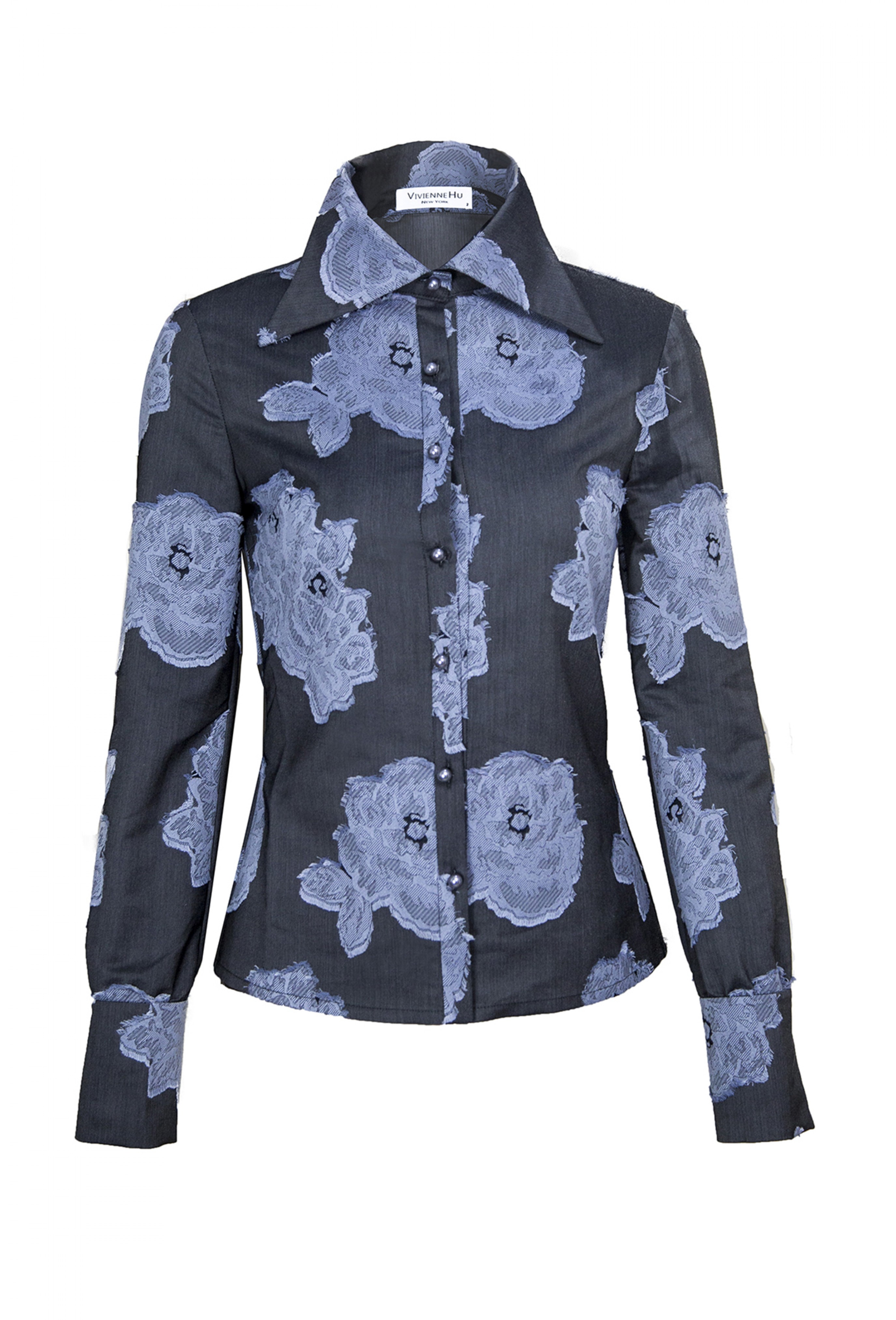 DARK BLUE FLOWER SHIRT