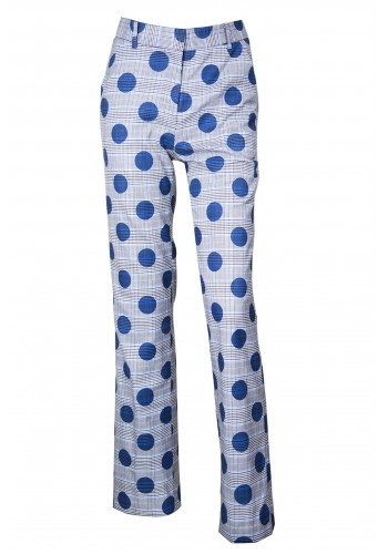 BLUE DOTTED TROUSERS