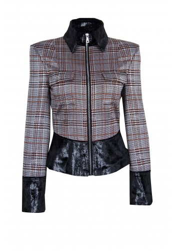 STRIPE SINGLE BREAST JACKET