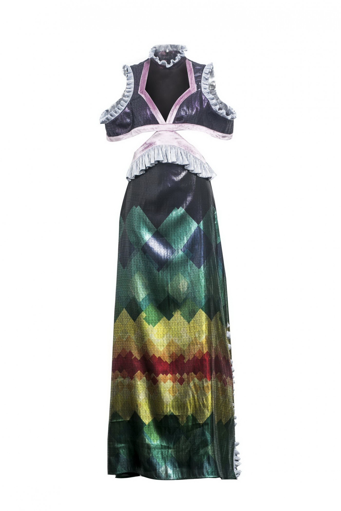 RAINBOW CUTOUT GOWN