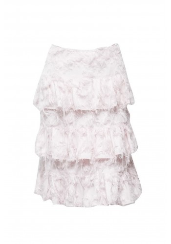 DOUBLE TIER RUFFLE MINI SKIRT