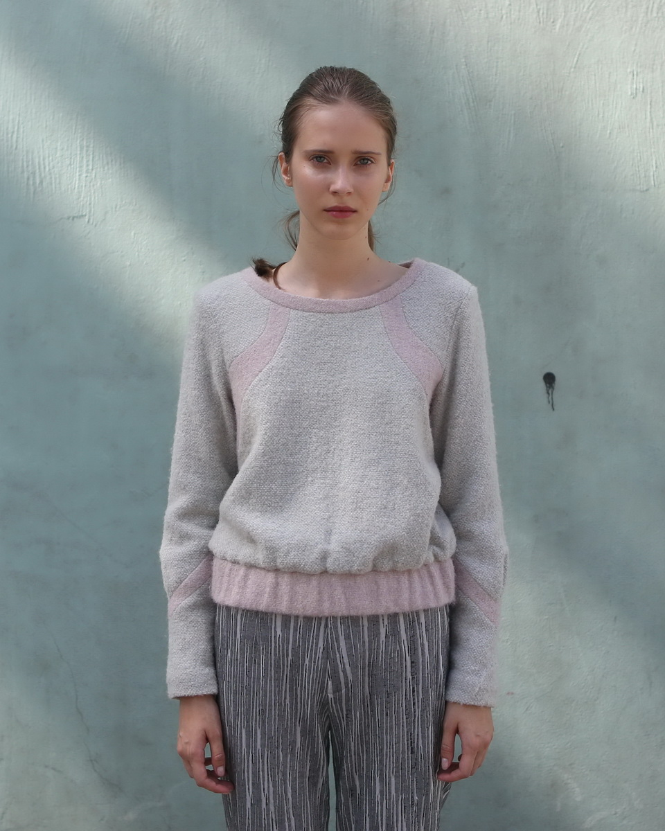 Soft Cream Sweater with Rose Detailing