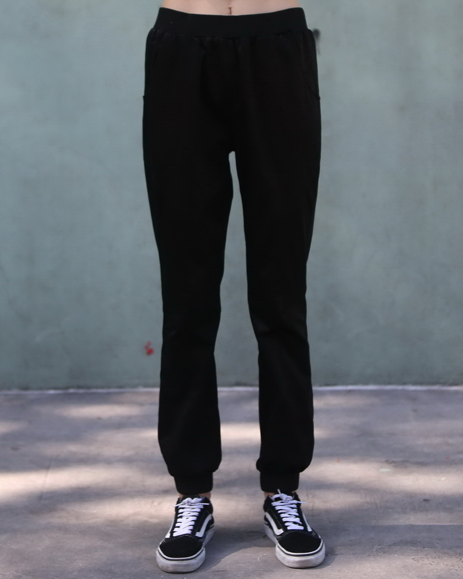 Sateen Black Joggers
