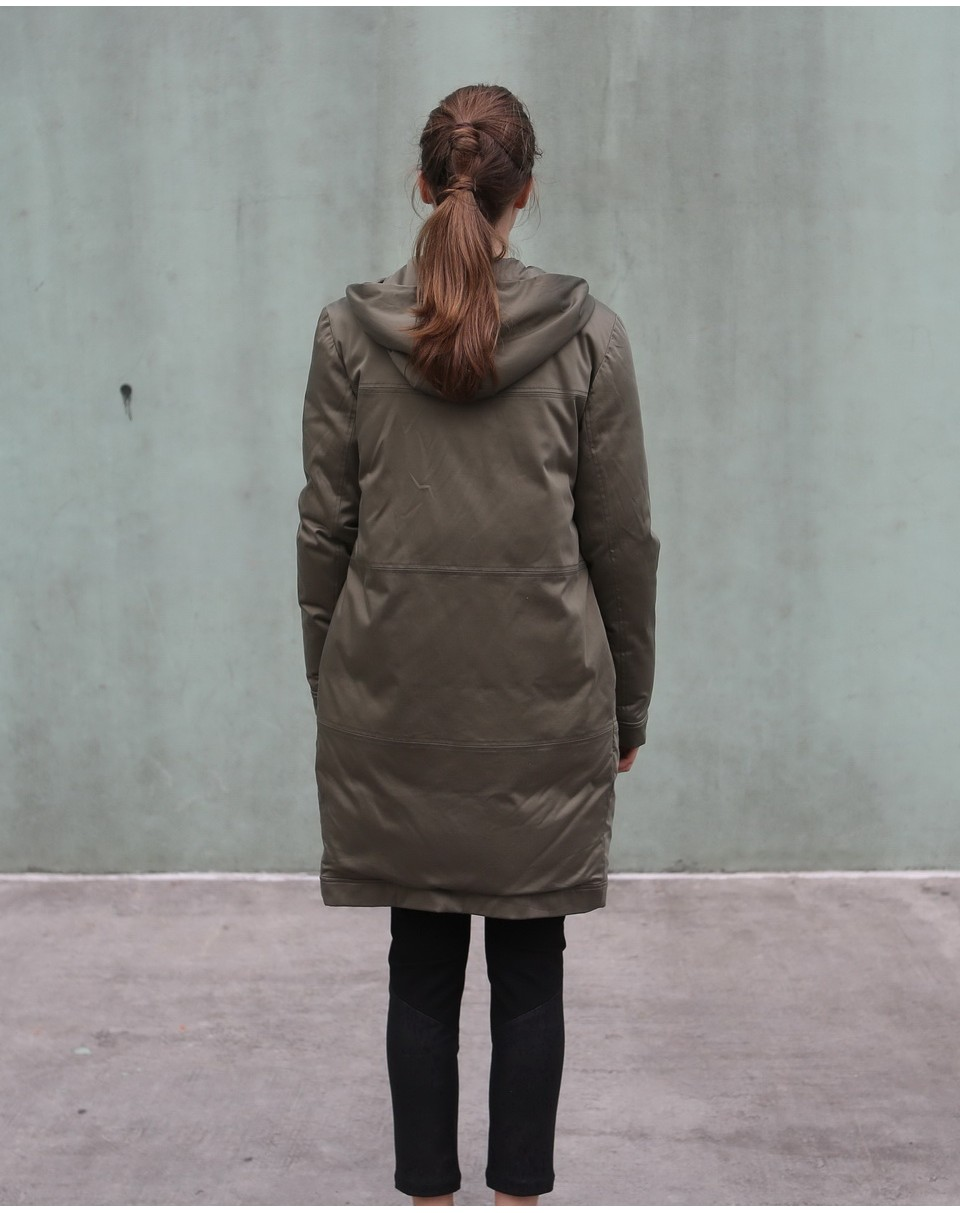 Down Coat with Hood