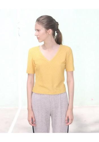 Yellow V Tee