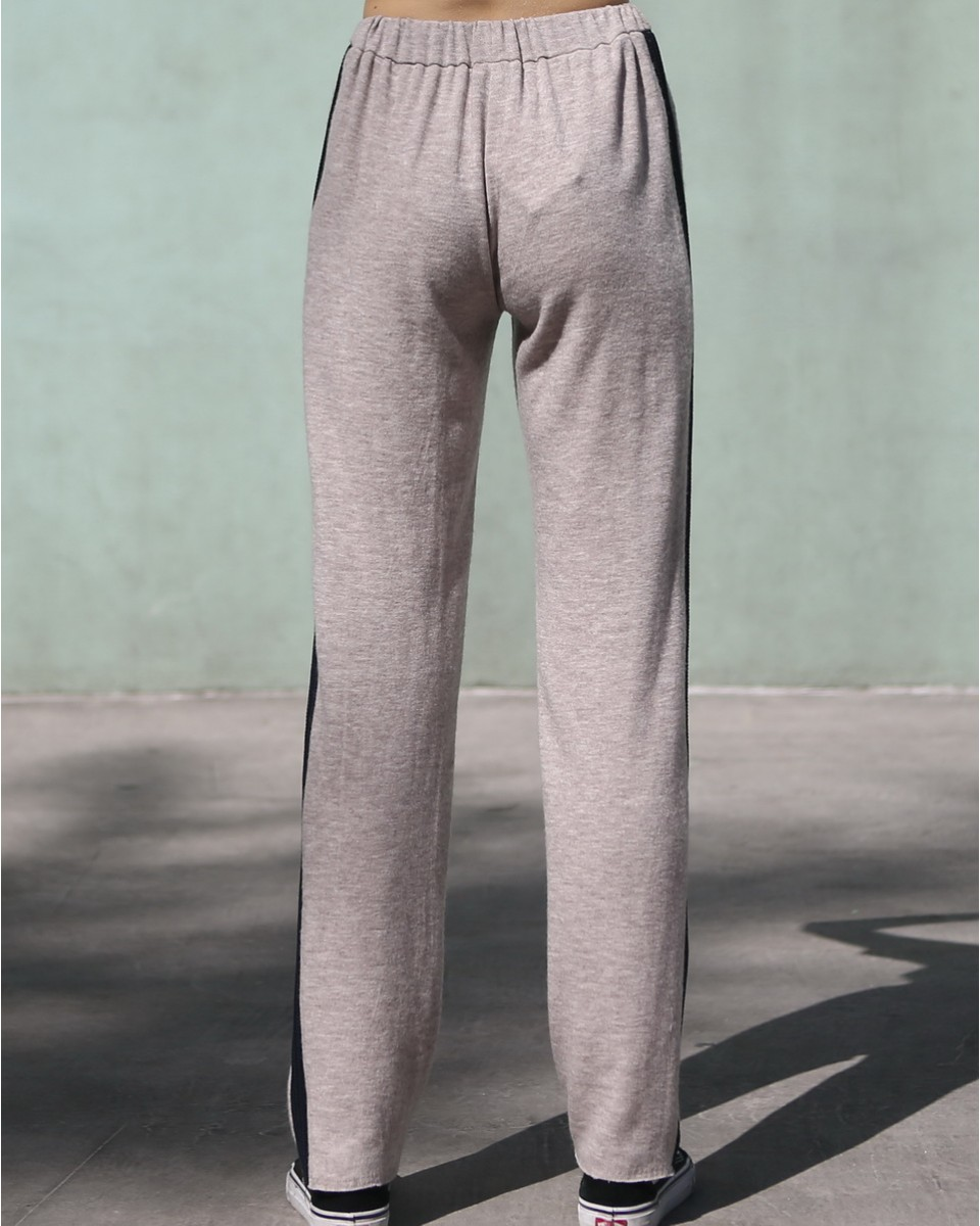 Terry Trousers with Stripe