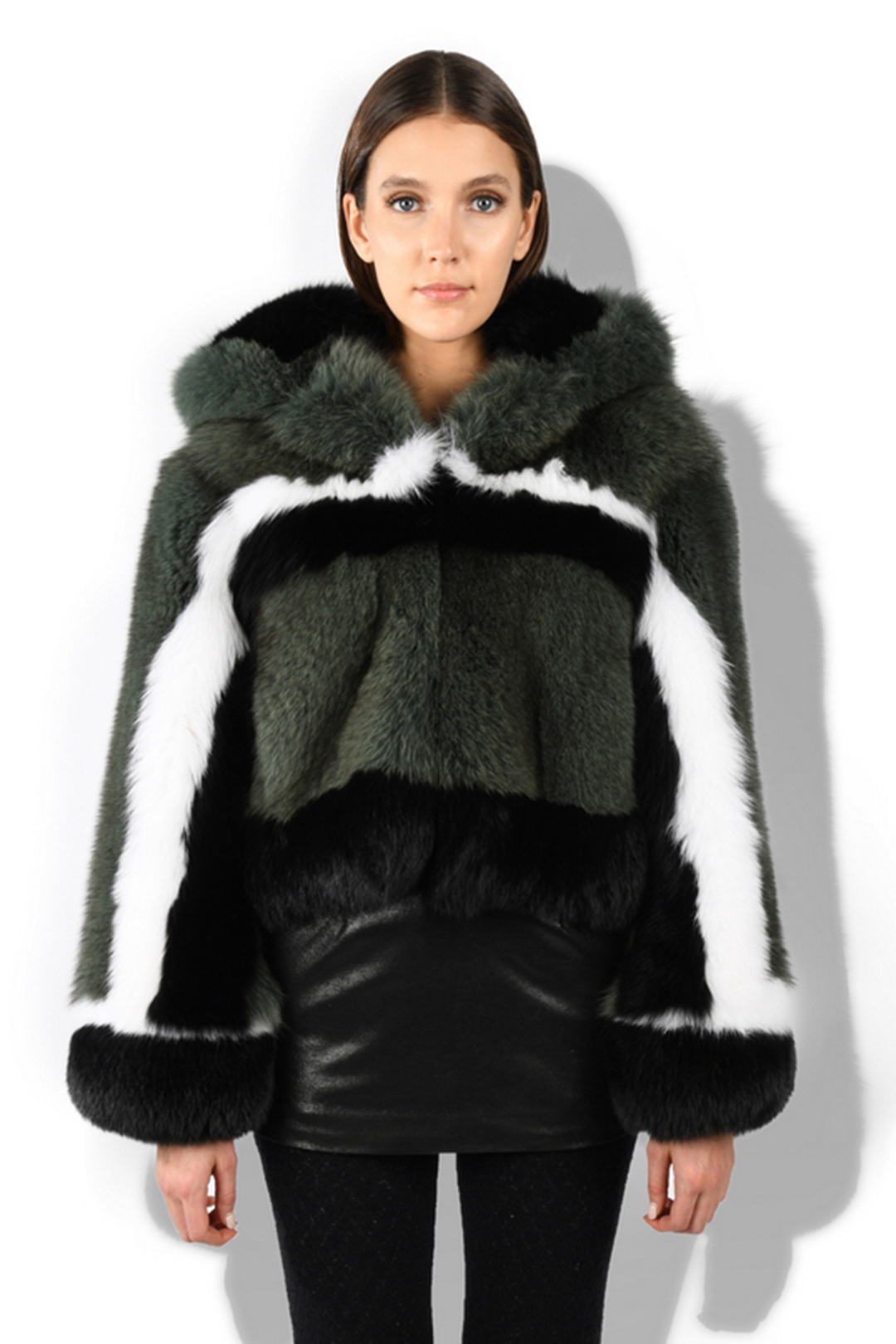 Hooded Short Fur Coat