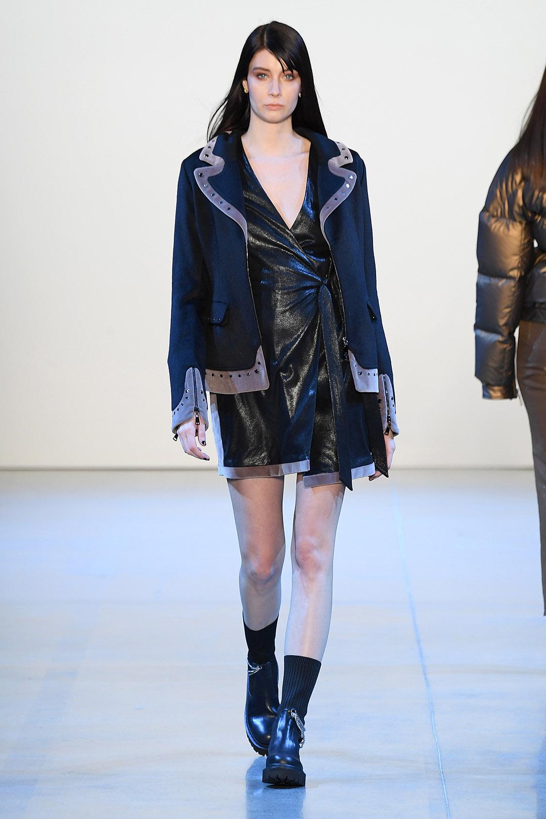 Velvet Trimmed Angora Jacket