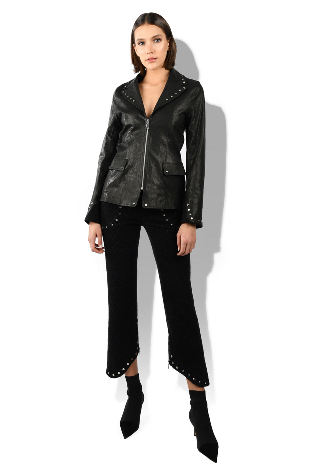 Studs Leather Jacket
