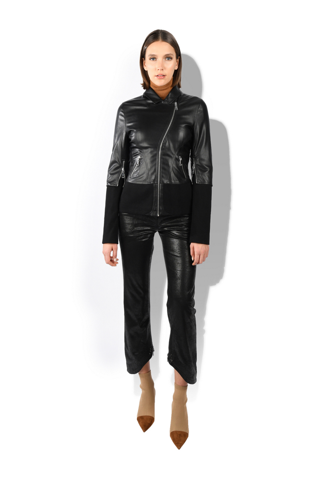 Faux Leather Pilot Jacket