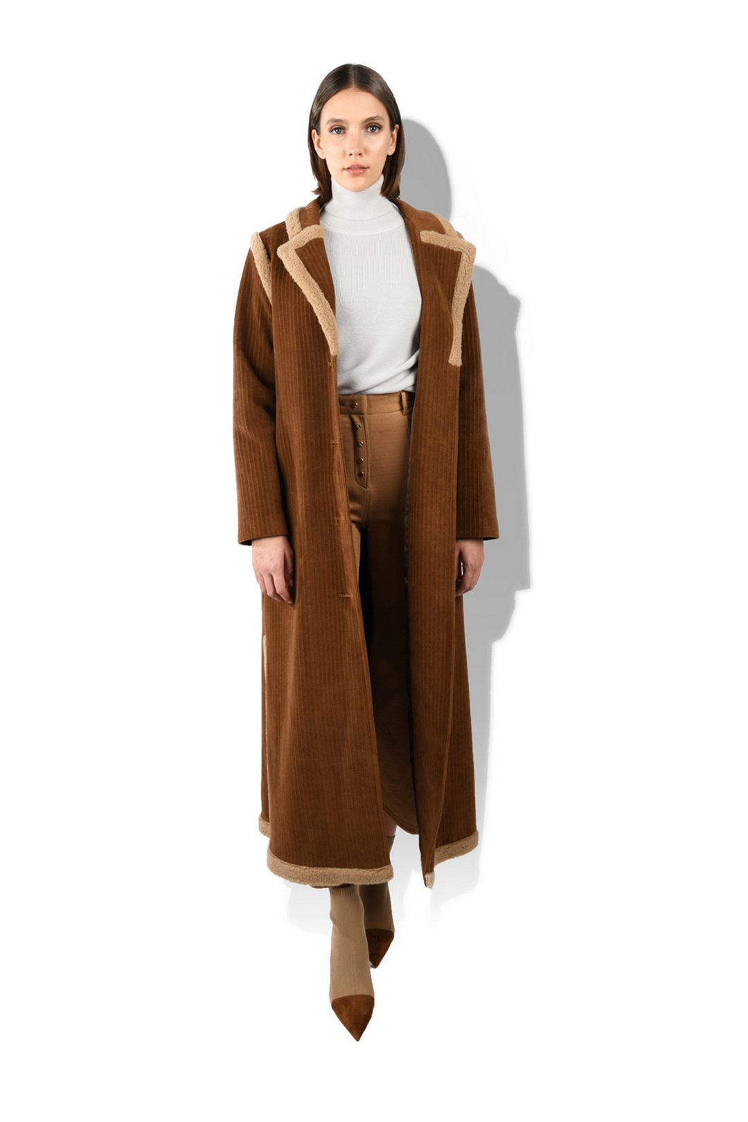 Alpaca Trimed Long Coat