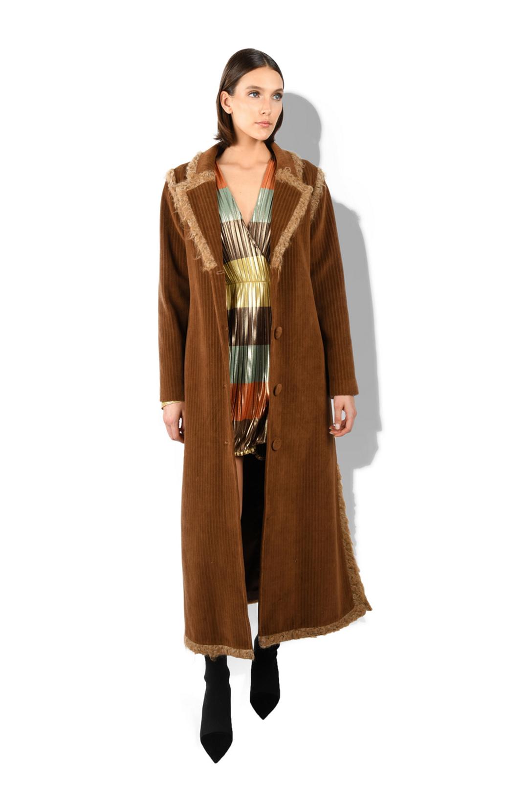 Wool Trimed Long Coat
