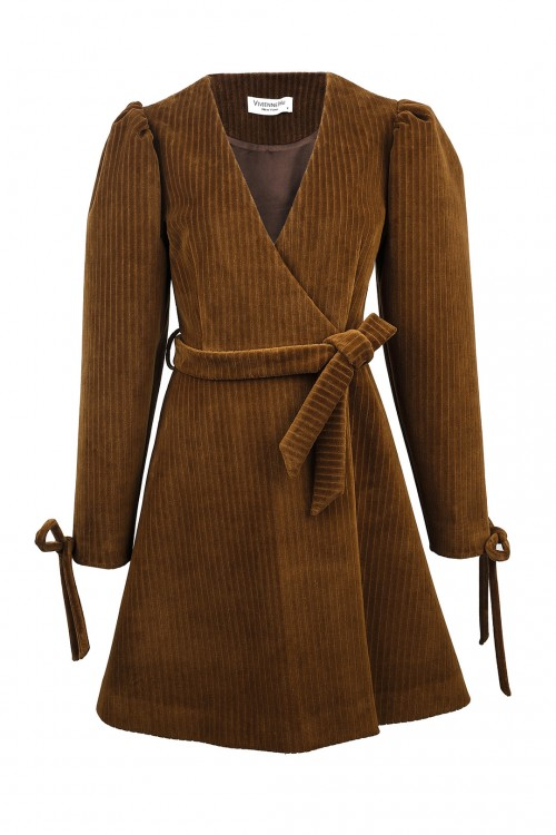 Corduroy Tied Dress