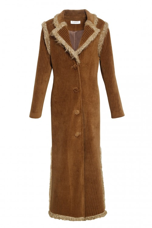 Wool Trimed Long Coat