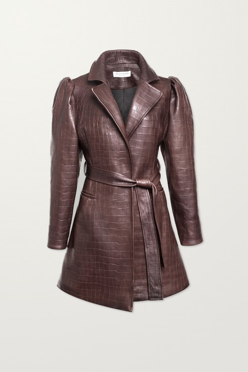 Brown Leather Coat