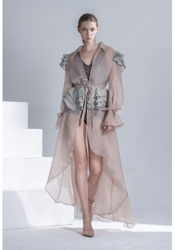Ruffle Organza Light Coat