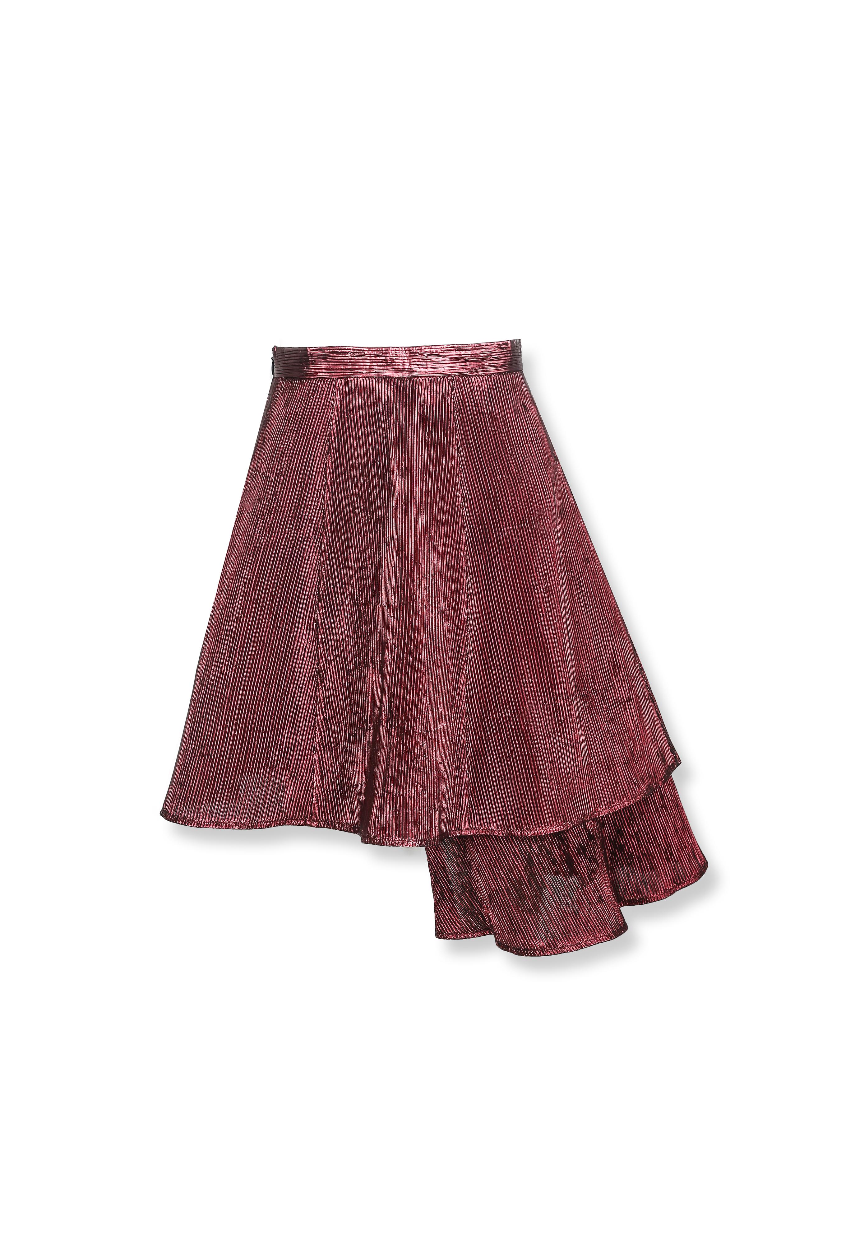 Textured Ruffle Skirt