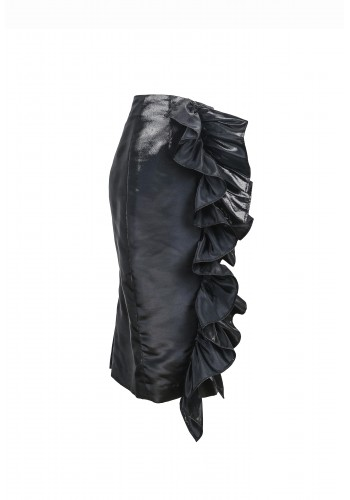 Gathered Ruffle Skirt