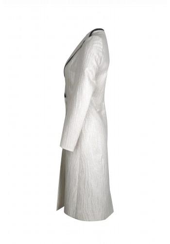 Contrast Lapel Coat